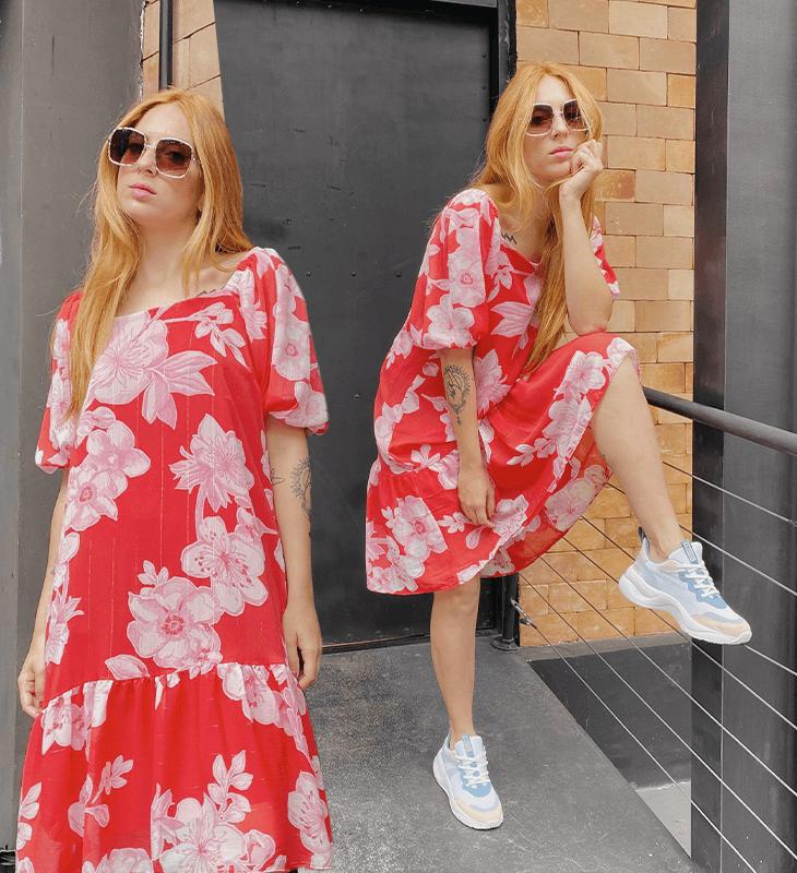 Aline Santos - vestido floral - breezy dress - verão - street style - https://stealthelook.com.br