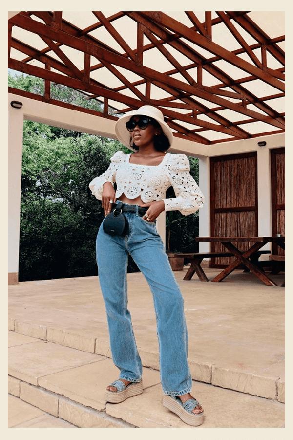 Shelley Mokoena  - chapéu  - chapéu  - verão - street style  - https://stealthelook.com.br