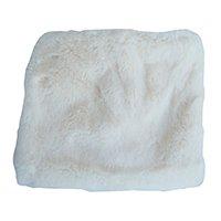 Manta Decorativa Soft Branco 1,40x1,40m