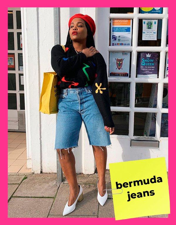 It girls - Bermuda jeans - Shorts - Primavera - Street Style - https://stealthelook.com.br