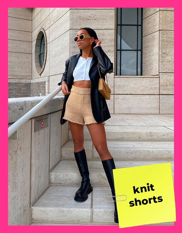 It girls - Knit shorts - Shorts - Primavera - Street Style - https://stealthelook.com.br