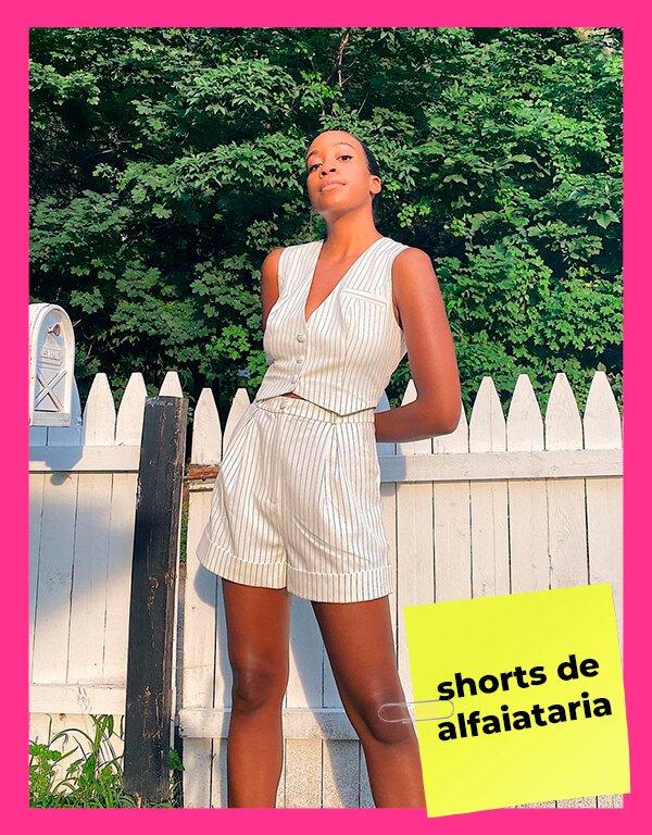 It girls - Shorts de alfaiataria - Shorts - Primavera - Street Style - https://stealthelook.com.br