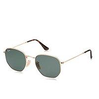 Óculos de Sol Ray Ban Hexagonal Rb3548n 1/54 Dourado