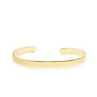 Bracelete Piuka Bia Liso Folheado a Ouro 18K.