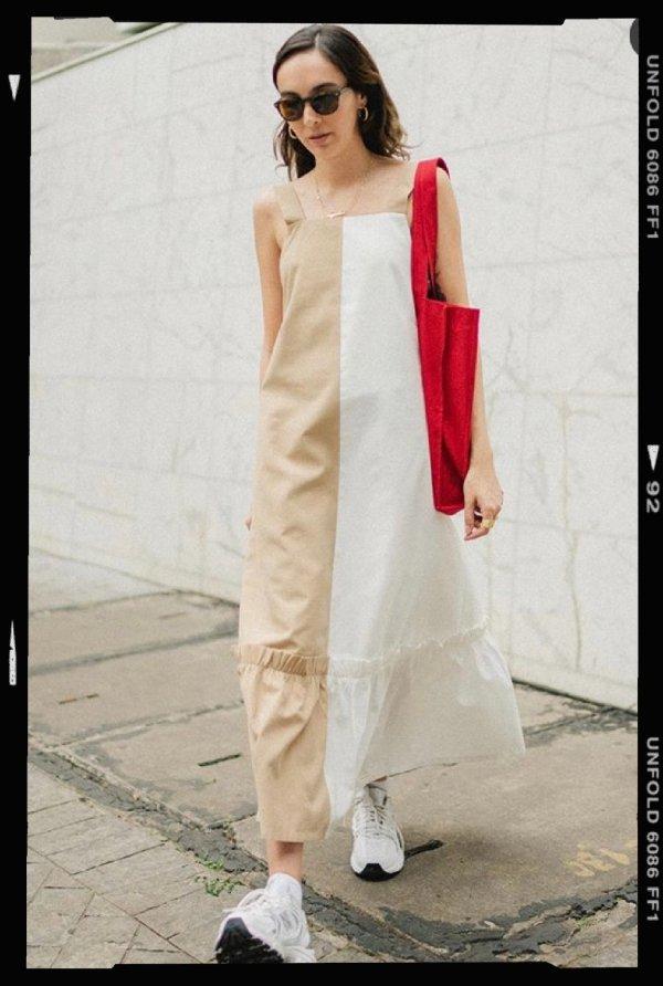 Angelica Bucci - vestido - ecobag - verão - street-style - https://stealthelook.com.br