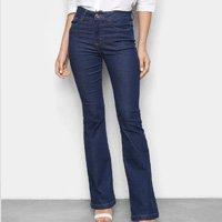Calça Jeans Malwee Flare Feminina - Azul