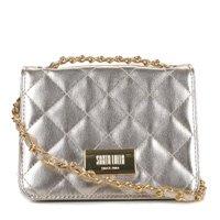 Bolsa Santa Lolla Mini Bag Metálica Feminina - Dourado
