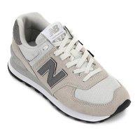 Tênis New Balance 574 Feminino - Branco e Cinza