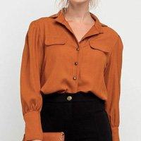 Camisa Elora Woman Lisa Feminina - Marrom