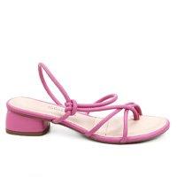 Sandália Dakota Multi Tiras Salto Baixo Feminina - Pink