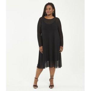 Vestido Liso em Tule Curve & Plus Size