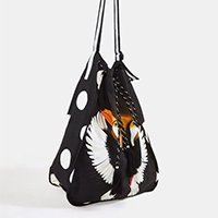 mochila estampada tucanos - preto - u