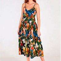 vestido estampado cropped collage levis