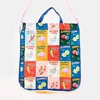 bolsa estampada dia de feira - multicolorido - u