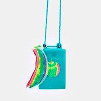 mini bolsa estampada dia de feira - azul oasis - u