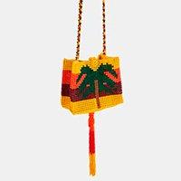 bolsa micanga coqueiro - multicolorido - u