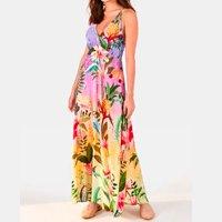 vestido cropped flor de onca