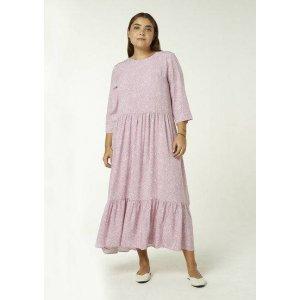 Vestido Longo Manga Longa Estampado