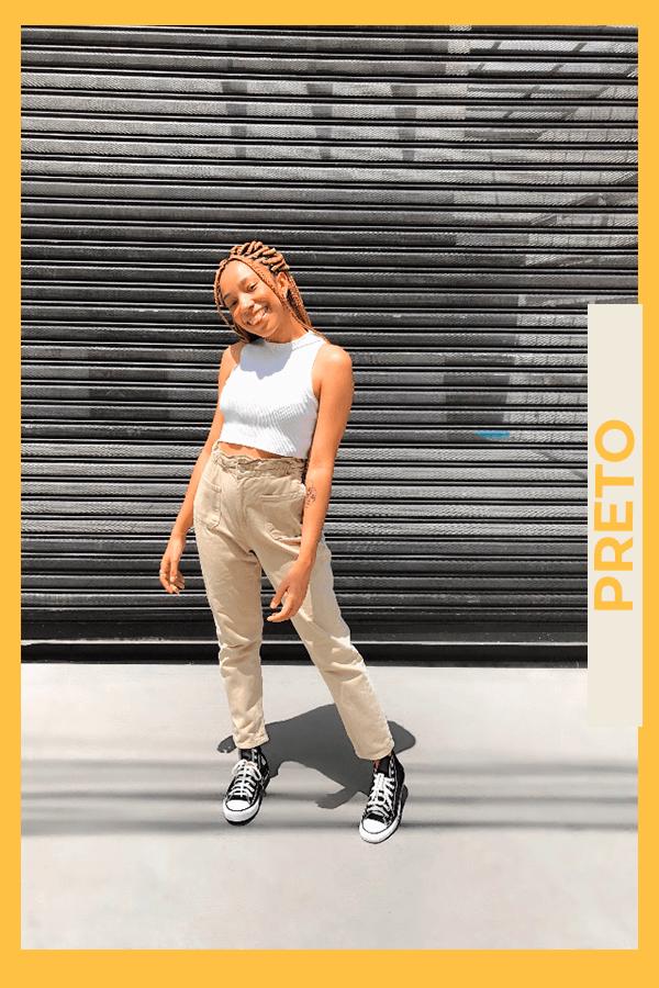 Luma Jady - calça de sarja - all star - verão - street style  - https://stealthelook.com.br