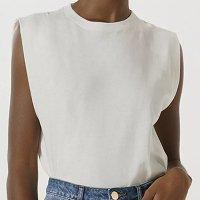 Blusa Básica Feminina Muscle Tee - Branco