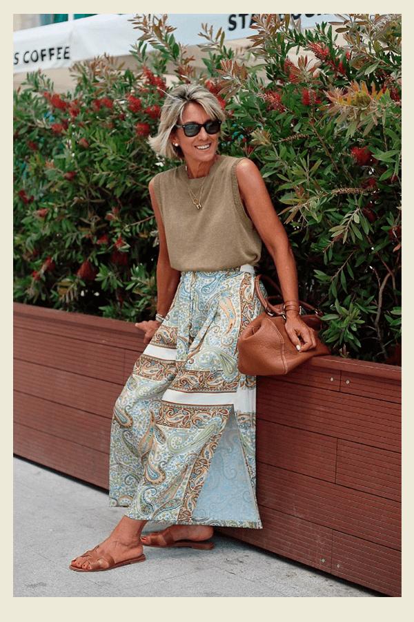Margarita Arguelles - saia - chic no calor - verão - street style  - https://stealthelook.com.br