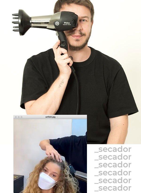 Thiago Fortes - cabelos - difusor - verão - em-casa - https://stealthelook.com.br