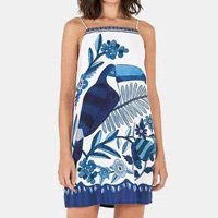 vestido curto lenco azulejos