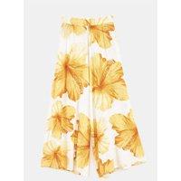 calca pantalona estampada vestida de flor
