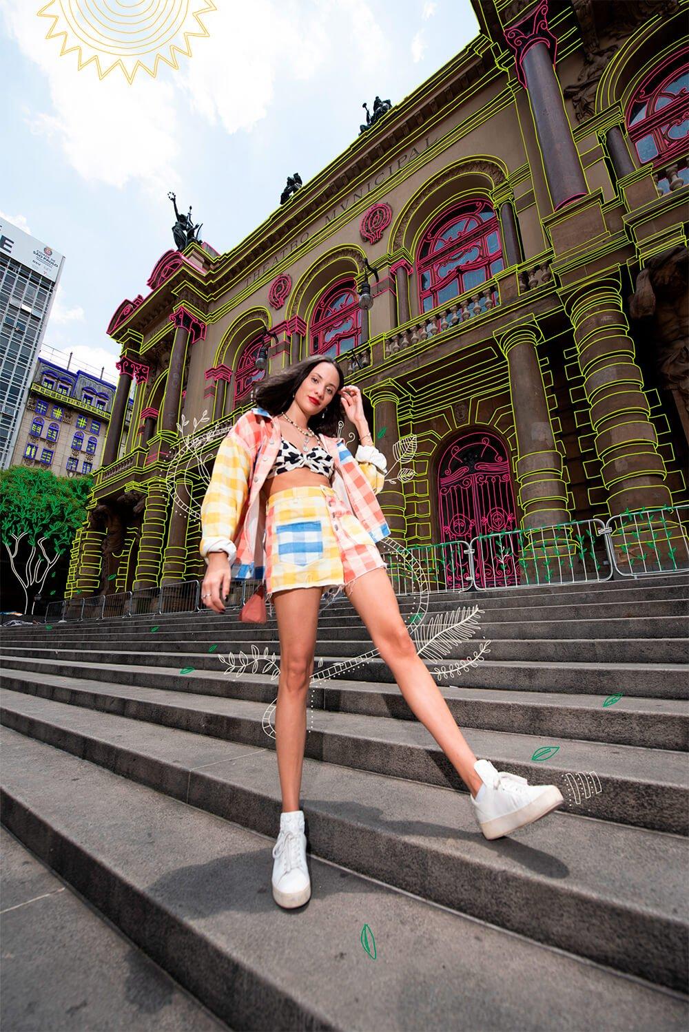 Jéssica Menasce - looks coloridos - looks da farm - verão - street style - https://stealthelook.com.br