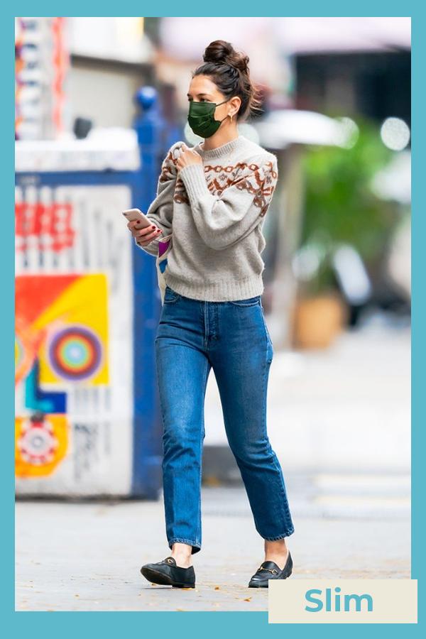 Katie Holmes  - Calça jeans slim - Katie Holmes - Inverno - street style  - https://stealthelook.com.br