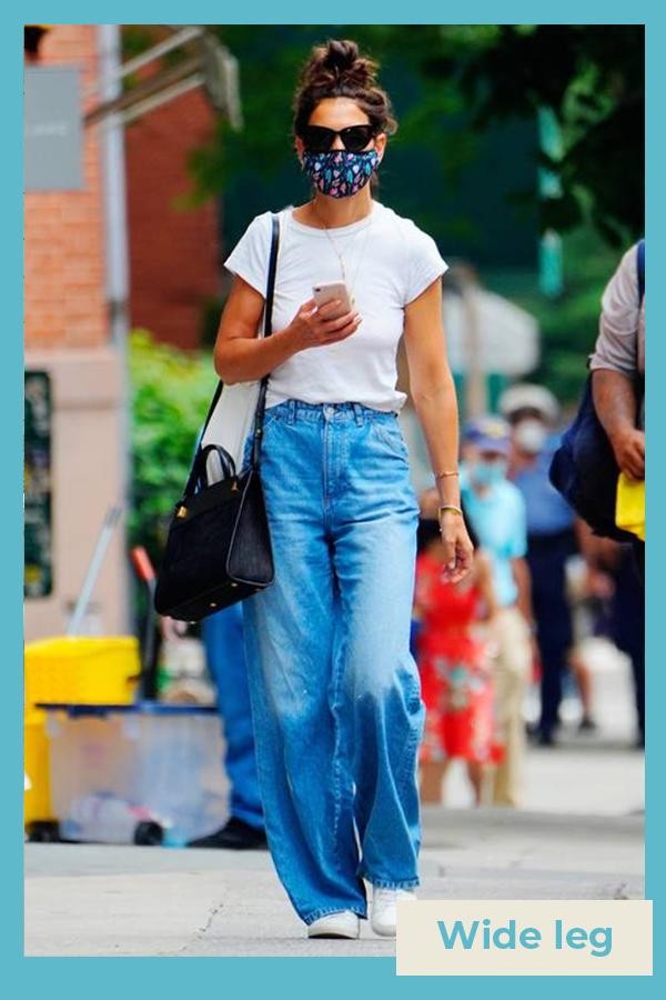 Katie Holmes  - Calça jeans wide leg - Katie Holmes - verão - street style  - https://stealthelook.com.br