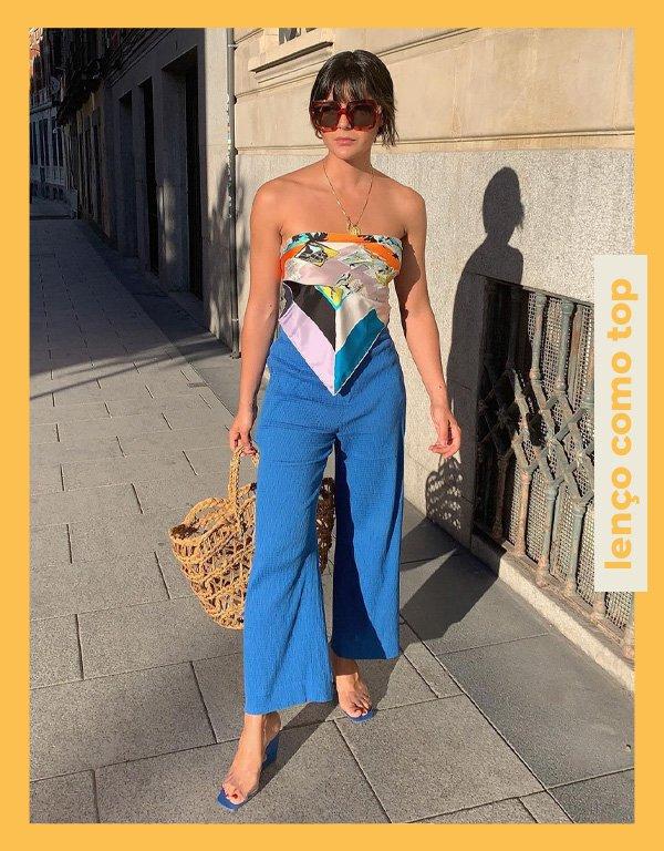 María Bernad - truque de styling - lenço - verão - street style - https://stealthelook.com.br