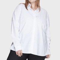 Camisa Evasê Bold 100% Algodão Plus Size -50 Feminina - Branco