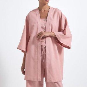 Kimono de Manga Curta Liso