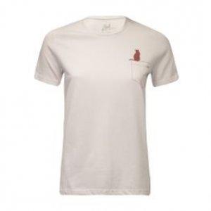Camiseta Feminina Bolso Gatinho Branco Tamanho P