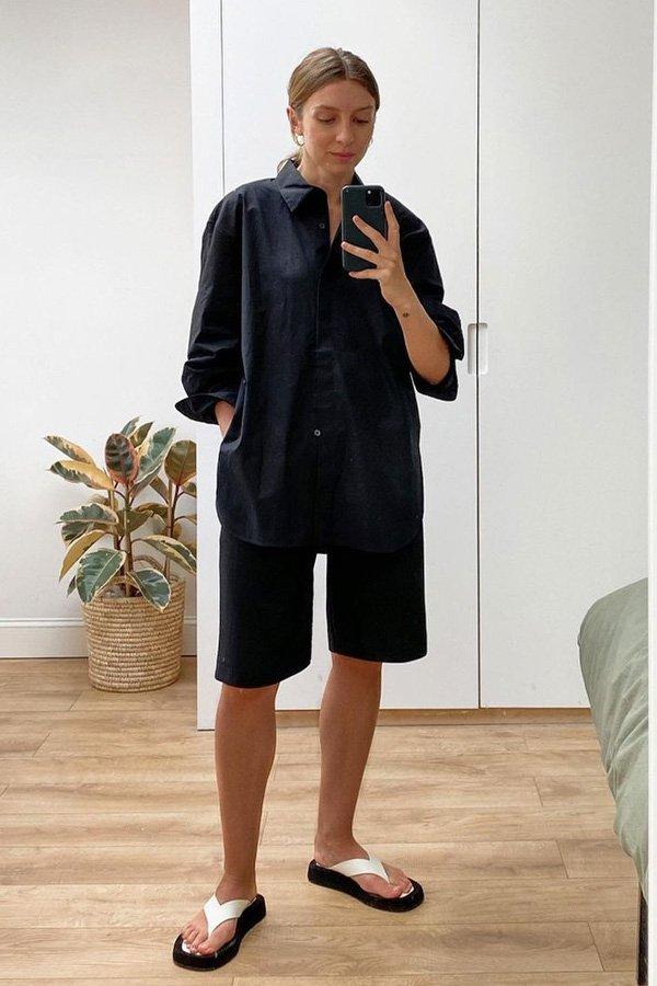 Brittany Bathgate - como usar preto no verão - looks preto - verão - street style - https://stealthelook.com.br