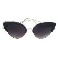 Óculos de Sol Cuco Blue Gatinho Feminino - Preto e Dourado