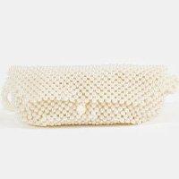 pochete pérolas - off white - u