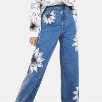 calça jeans tropical flower levis