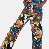 calça jeans estampada collage levis