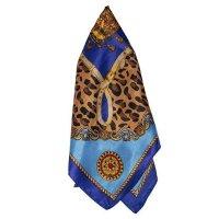 Lenço De Cetim Atacado Bijuterias Azul Haven Feminino - Azul