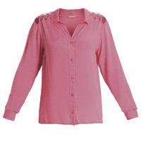 Quintess - Camisa com Ombros Vazados Pink