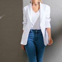 Quintess - Blazer Alongado Branco Quintess