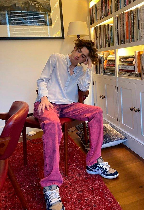 Timothée Chalamet - Looks - Moda masculino - Verão - Em casa - https://stealthelook.com.br