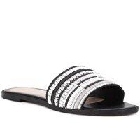 Rasteira Shoestock Slide Bordado - Preto