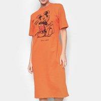 Vestido Midi Colcci Disney Mickey - Laranja