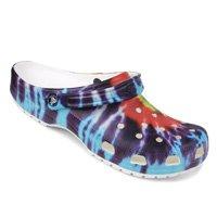 Sandália Crocs Tie Dye Graphic Clog - Roxo