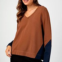 Liz Easywear Blusão Feminina - Caramelo