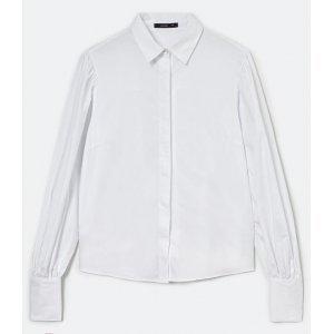 Camisa Manga Longa Bufante em Tricoline
