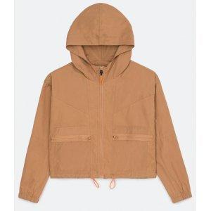 Jaqueta em Poliamida com Recortes e Capuz